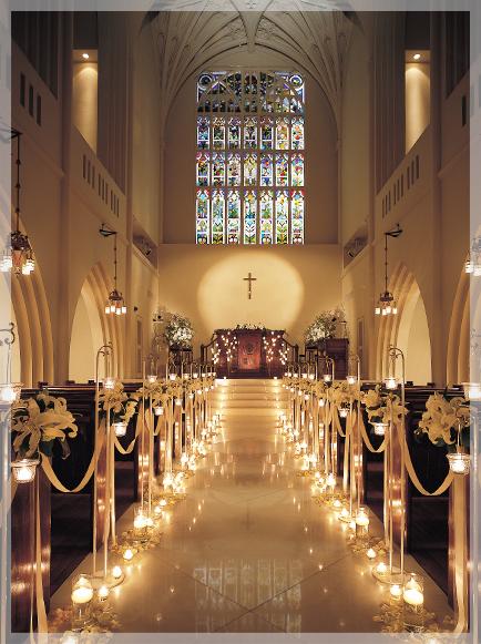 写真:大聖堂貸切りプラン