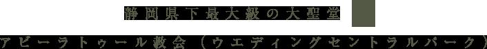 静岡県下最大級の大聖堂 アビー・ラ・トゥール教会